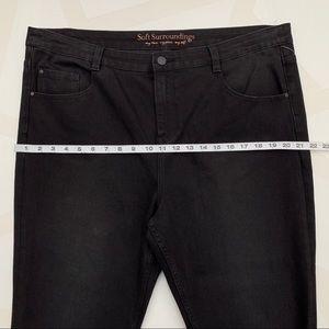 Soft Surroundings Jeans - Soft Surroundings Tassel Trimmed Jeans Black 18P
